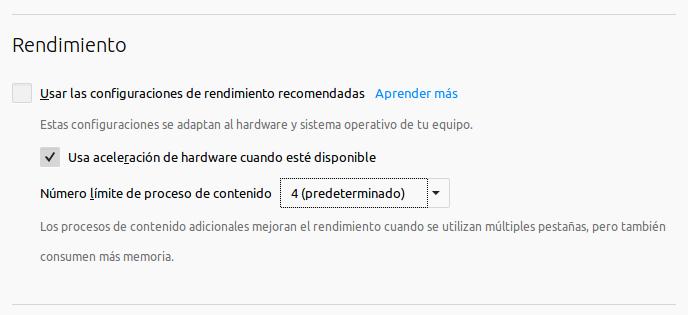 Firefox - redimiento